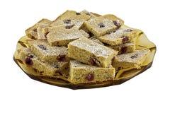 酸樱桃新鲜的做的饼 免版税库存图片