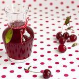 酸樱桃的汁 免版税库存图片