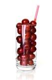 酸樱桃的玻璃 免版税库存图片