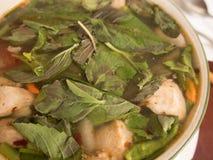 酸泰国的汤热和 图库摄影