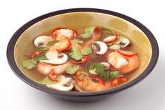 酸热大虾的汤 免版税图库摄影