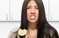 酸的柠檬 免版税库存照片