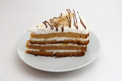 酸蛋糕片断在冷菜盘的 库存图片