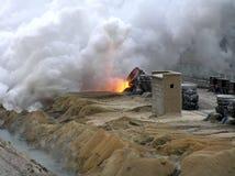酸覆盖国家(地区)沙丘炉渣 免版税库存照片