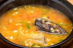 酸鱼汤 库存图片
