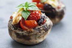 酿蘑菇 图库摄影