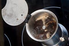 酿造咖啡 免版税库存图片