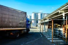 酿造坦克 发酵啤酒的桶 库存图片