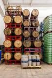 酿造的和变老的蜂蜜酒 库存照片
