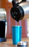 酿造的咖啡家 图库摄影