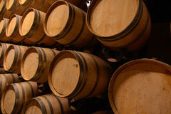 酿酒厂桶 免版税库存图片