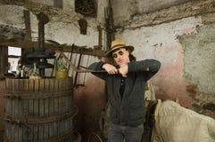 酿酒商 库存图片