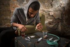 麻醉剂和药物概念 免版税库存照片