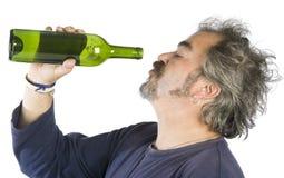 醉酒的人纵向 库存照片