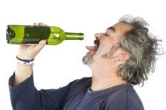 醉酒的人纵向 图库摄影