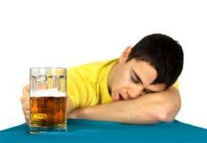 醉酒的人 免版税库存图片