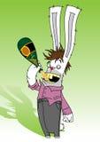 醉酒的兔子 库存照片