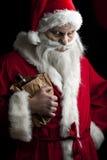 醉酒的圣诞老人 图库摄影