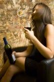 醉酒的夫人 免版税库存图片