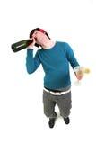 醉酒的少年 免版税库存图片