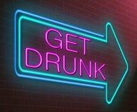 醉酒的概念。 库存图片