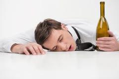 醉酒的睡眠 库存图片