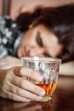 醉酒的西班牙妇女 库存图片