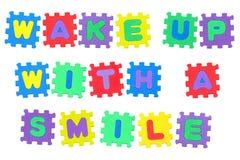 醒与微笑 免版税库存照片
