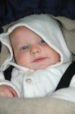 醒的婴孩车 库存照片