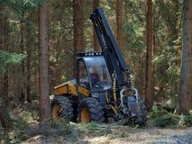 采伐的机器,南波希米亚 库存照片