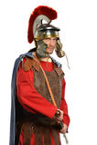 采取剑的罗马战士 免版税库存图片