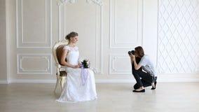 采取图片新娘的摄影师 影视素材