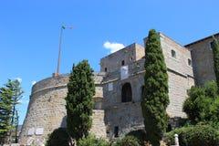 圣Giusto城堡 免版税库存照片