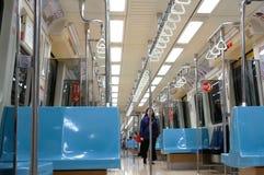 采取大量高速运输的乘客的行动在台北台湾 免版税库存照片
