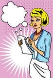 采取妇女的企业附注 免版税库存图片