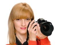 采取妇女的照片 库存图片