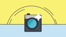 采取射击HD动画的快速照相机 向量例证