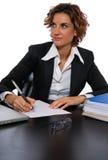 采取工作的困难附注 免版税库存照片