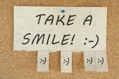 采取微笑 免版税图库摄影