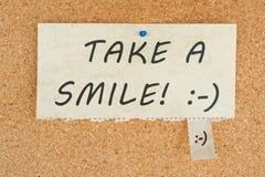 采取微笑 免版税库存图片