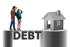 采取房子的家庭的概念抵押贷款 库存照片