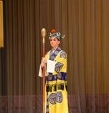"""采取棍子给杨Family†的太监北京Opera""""妇女将军 免版税库存图片"""
