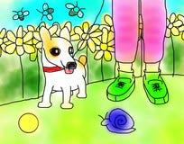 采取步行的狗宠物 免版税库存照片