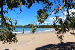 采取沿木桶匠海滩的漫步 免版税库存照片