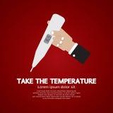 采取温度 免版税库存照片