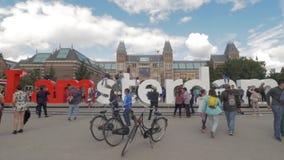 采取照片我的游人阿姆斯特丹口号 影视素材