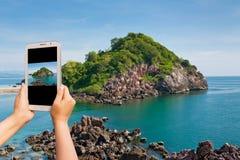 采取照片海岛 图库摄影