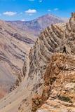 采取照片的摄影师在喜马拉雅山 免版税库存图片