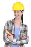 妇女holt电压表 免版税库存照片