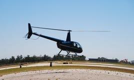采取的直升机光 免版税图库摄影
